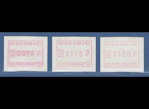 Finnland FRAMA-ATM Mi.-Nr. 1 Tastensatz 90-110-120 **