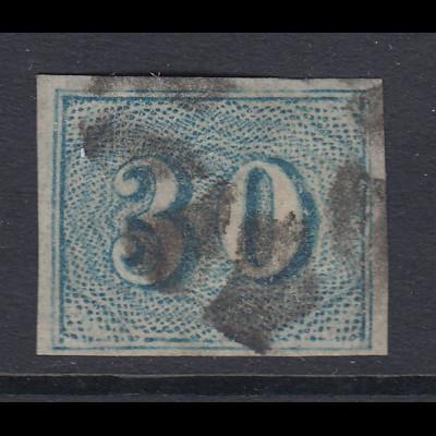 Brasilien Ziffernzeichnung Coloridos 30 Reis Mi.-Nr. 20 gestempelt