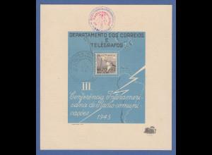 Brasilien 1945 philatel. Gedenkblatt zur 3. amerikanischen Radiokonferenz gest.