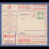 Bayern Privat-Ganzsache Reklame-Kartenbrief mit 5 Pfg Wappen LUITPOLD Luxus-Café