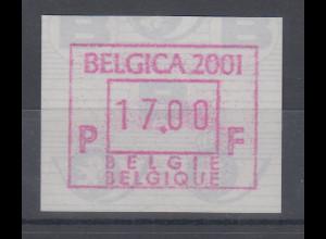 Belgien FRAMA-ATM Sonderausgabe BELGICA 2001 **