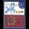Bundesrepublik EURO-Kursmünzensatz 2014 F Spiegelglanz-Ausführung PP