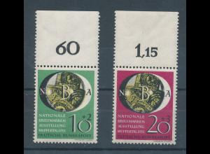 Bundesrepublik 1951 Briefm.-Ausst. Wuppertal Mi.-Nr. 141-142 Oberrandstücke **