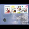 Großbritannien Coin-FDC 2010, 100 Jahre Pfadfinderinnen, mit 50-Pence-Münze.