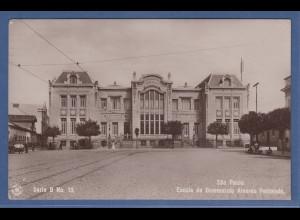 AK Brasilien Sao Paulo Escola de Commercio Alvares Penteado, gelaufen 1913