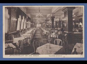 AK Berlin Wilhelmshallen am Zoo Cafe und Tanzdiele 1 Stock gelaufen 1931