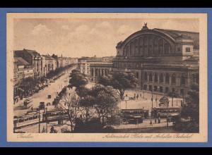 AK Berlin Askanischer Platz mit Anhalter Bahnhof gelaufen 1928