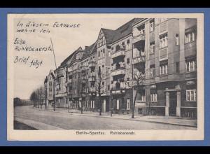 AK Berlin Spandau Ruhlebenerstr. gelaufen 1928