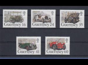 Guernsey 1994 Automobile Oldtimer Mi.-Nr. 640-44 Satz 5 Werte **