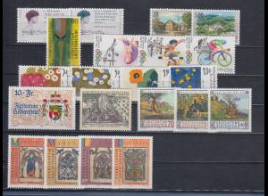 Liechtenstein alle Briefmarken-Ausgaben des Jahrgangs 1996 kpl. postfrisch **