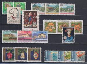 Liechtenstein alle Briefmarken-Ausgaben des Jahrgangs 1997 kpl. postfrisch **