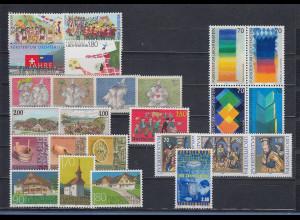 Liechtenstein alle Briefmarken-Ausgaben des Jahrgangs 1998 kpl. postfrisch **