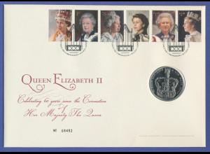 Großbritannien Coin-FDC 2013, Krönungsjubiläum Elizabeth II. mit 5-Pfund-Münze