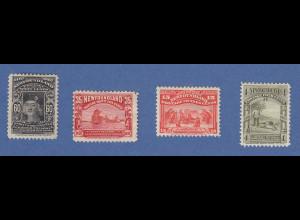 Kanada / Neufundland 1897 Lot 4 Werte aus dem Satz ungebraucht *
