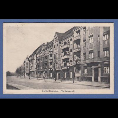 AK Berlin Spandau Ruhlebenerstr. gelaufen 1929