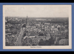 AK Berlin Spandau Altstadt Panorama gelaufen 1929