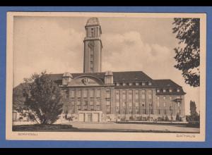 AK Berlin Spandau Rathaus gelaufen 1929