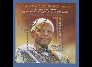 Südafrika 2018 Block Nelson Mandela Gemeinschaftsausgabe mit Deutschland ET-O