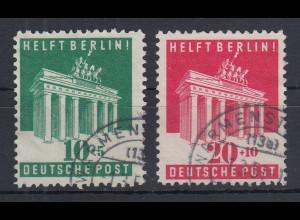 Bizone Helft Berlin Mi.-Nr. 101-102 Satz kpl. sauber gestempelt.