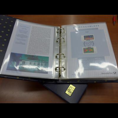 Bundesrepublik Ersttagsblatt ETB-Jahrgang 2008 kpl. im Luxus-Album der Dt. Post