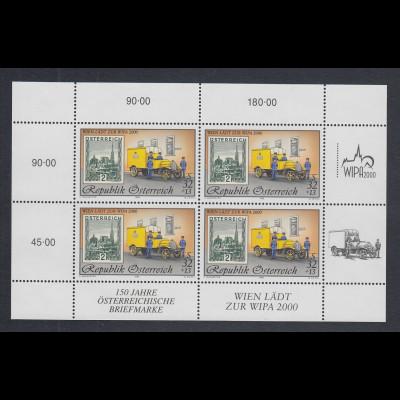 Österreich 1998 WIPA 2000 Mi.-Nr. 2270 I Kleinbogen mit 4 Werten **