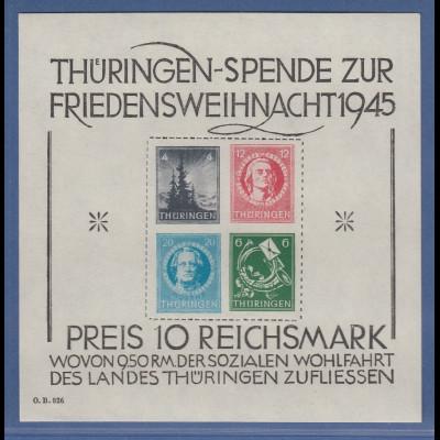 SBZ Thüringen großer Weihnachtsblock Mi.-Nr. Block 2 x ** einwandfrei