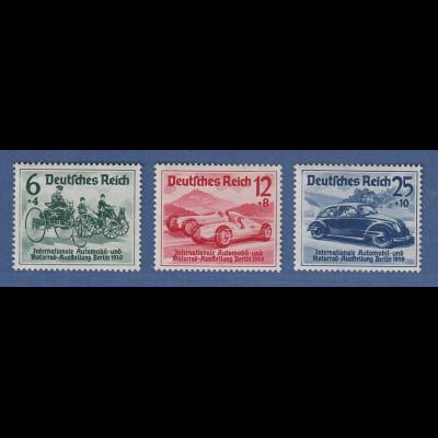 Deutsches Reich 1939 Automobil-Ausstellung Mi.-Nr. 686-688 Satz 3 Werte **