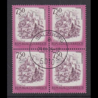 Österreich Dauerserie Schönes Österreich 7,50 S Mi.-Nr. 1550 Viererblock O