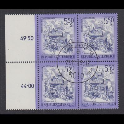 Österreich Dauerserie Schönes Österreich 5,50 S Mi.-Nr. 1710 Viererblock O