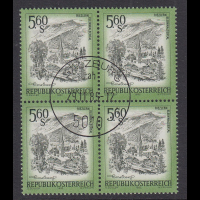 Österreich Dauerserie Schönes Österreich 5,60 S Mi.-Nr. 1711 Viererblock O