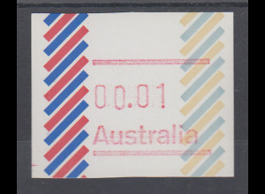 Australien Frama-ATM 1. Ausgabe 1984, Balken, Ausgabe ohne Postcode **
