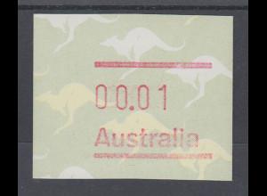 Australien Frama-ATM 2. Ausgabe 1985, Känguruh, Ausgabe ohne Postcode **