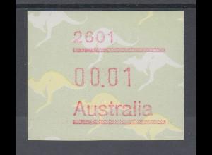 Australien Frama-ATM 2. Ausgabe 1985, Känguruh, Ausgabe mit Postcode **