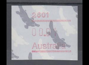 Australien Frama-ATM 3. Ausgabe 1986, Schnabeltier, Ausgabe mit Postcode **