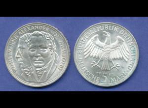 Bundesrepublik 5DM Silber-Gedenkmünze 1967, Wilhelm / Alexander von Humboldt