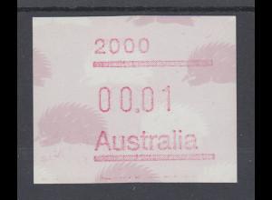 Australien Frama-ATM 4. Ausgabe 1987, Ameisenigel, Ausgabe mit Postcode **