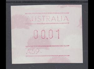 Australien Frama-ATM 4. Ausgabe 1987 Ameisenigel, Fehlverwendung mit A-Nummer **