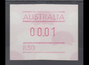 Australien Frama-ATM 4. Ausgabe 1987 Ameisenigel, Fehlverwendung mit B-Nummer **