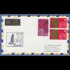 Hongkong 1974 Mi.-Nr. 284 (2) und 285 auf Lufthansa-Erstflugbrief nach Rom