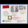 Dt. Schiffspost Hapag Lloyd MS Europa Express-Privat-GA mit ZF 16.2.1975 -> USA