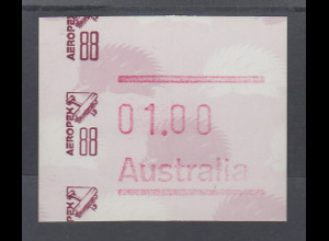 Australien Frama-ATM Ameisenigel, Sonderausgabe AEROPEX `88 **