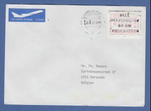 RSA Südafrika FRAMA-ATM aus OA P.001 Pretoria Wert 00.30 auf Brief nach Belgien