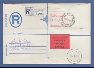 RSA Südafrika FRAMA-ATM aus OA P.001 Pretoria Wert 02,59 auf R-Expressbrief
