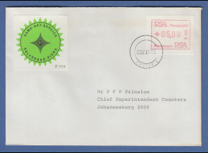 RSA Südafrika FRAMA-ATM aus OA P.001 Pretoria Wert 05,00 auf Same-Day-Brief