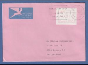 RSA Südafrika FRAMA-ATM aus OA P.001 Pretoria 00,30 auf Brief in die Schweiz