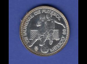 Portugal 100 Escudos XIII FIFA World Cup 1986 México Ag925