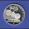 Mexico 25 Peso 1985, FIFA World Cup 1986 Ag925