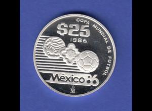 Mexico 25 Peso 1985, FIFA World Cup 1986 Ag925