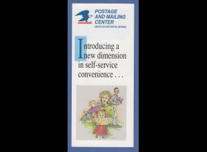 USA Info-Folder für Postkunden zur Einführung der PMC-Gard ATM, 1992