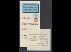 USA Info-Folder zu PMC-Gard ATM, mit ATM 0,01 O Oklahoma 20.8.92 + Ersttags-AQ